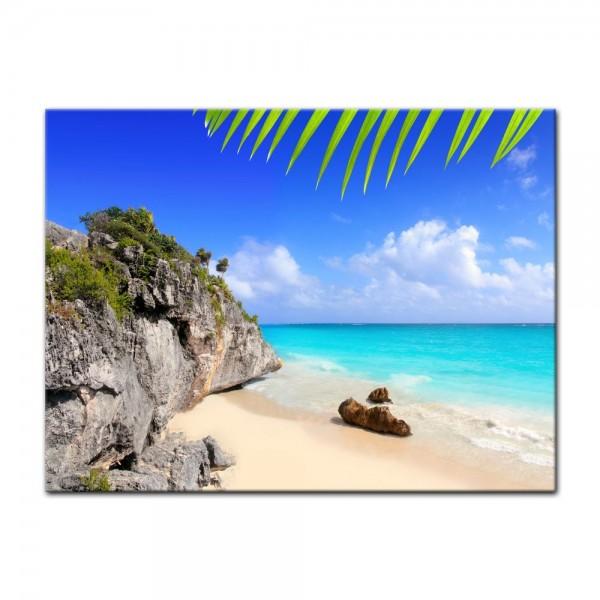 Leinwandbild - Tulum Mexiko - Karibik