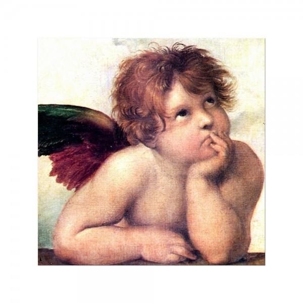 Leinwandbild - Raffael Engel I - Detail Sixtinische Madonna