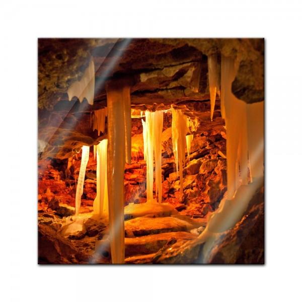 Glasbild - Grotte in Kungur Ice Cave - Russland