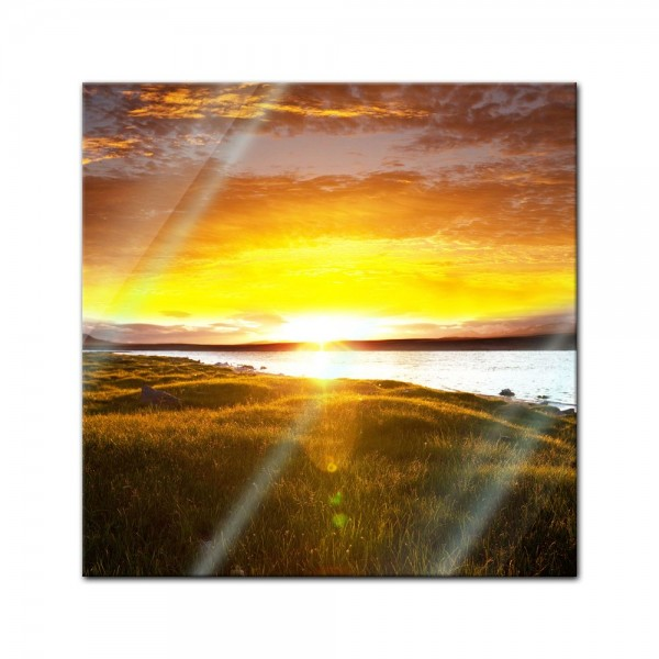 Glasbild - Sunset - Sonnenuntergang