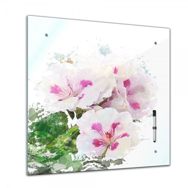 Memoboard - Aquarelle - Hibiskus - 40x40 cm