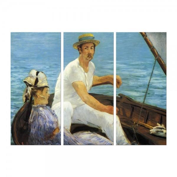 Leinwandbild - Édouard Manet - Im Boot