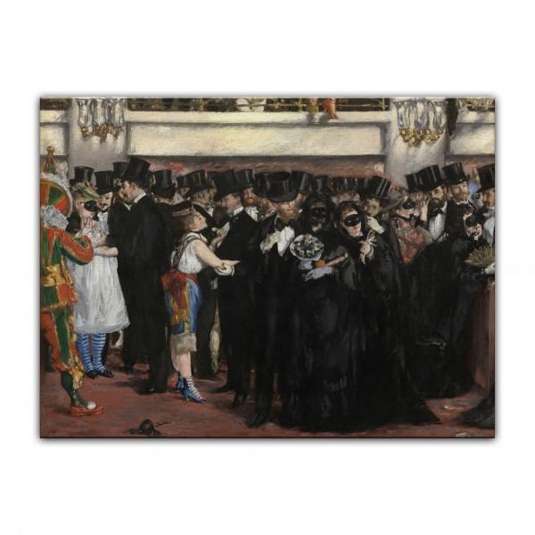 Leinwandbild - Édouard Manet - Maskenball in der Oper