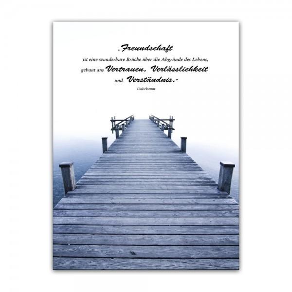 Leinwandbild mit Zitat - Freundschaft (Unbekannt)