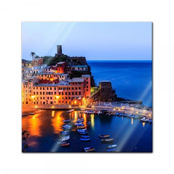Glasbild - Vernazza Castle in Cinque Terre