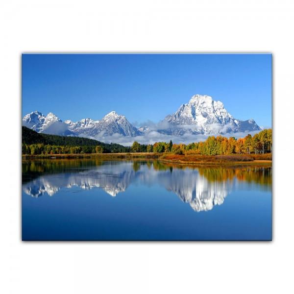 Leinwandbild - Berglandschaft USA - Oxbow Bend