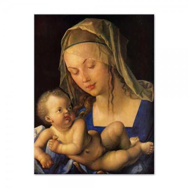 Leinwandbild - Albrecht Dürer - Maria mit der Birnenschnitte