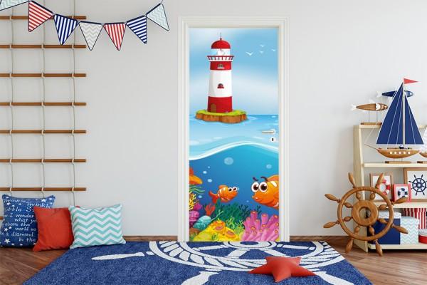 Türaufkleber - Kinderbild Unter dem Meer