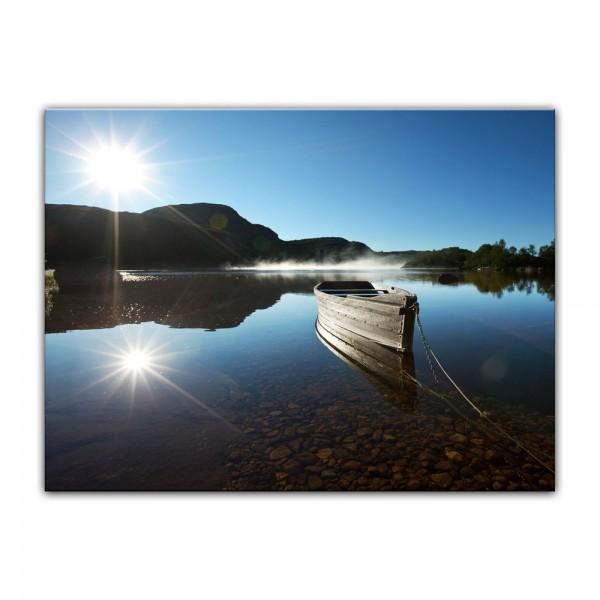 Leinwandbild - Boot am See