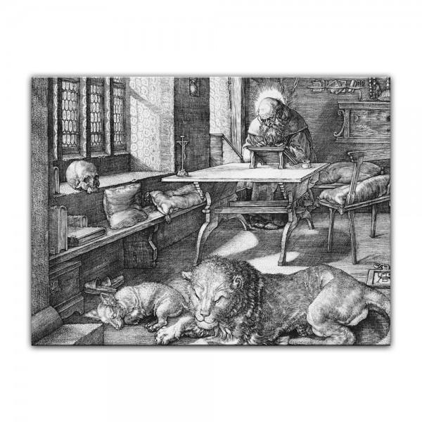 Leinwandbild - Albrecht Dürer - Der heilige Hieronymus im Gehäus
