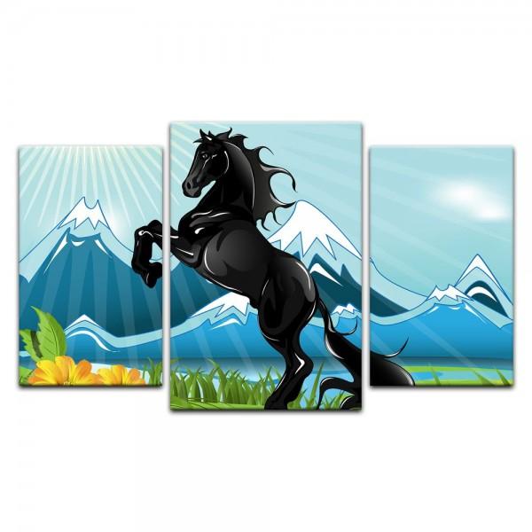 Leinwandbild - Kinderbild - Pferd