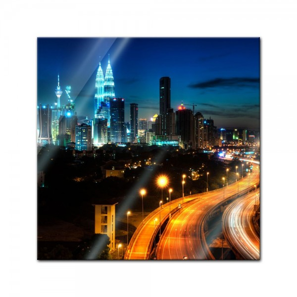 Glasbild - Kuala Lumpur