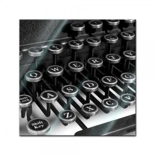 Glasbild - Schreibmaschine