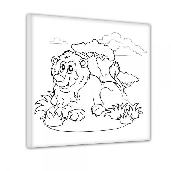 Löwe auf Safari - Ausmalbild