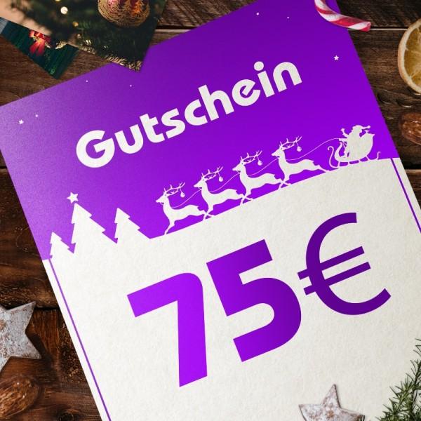 Express-Gutschein für Weihnachten über 75 EUR zum Selbstausdrucken