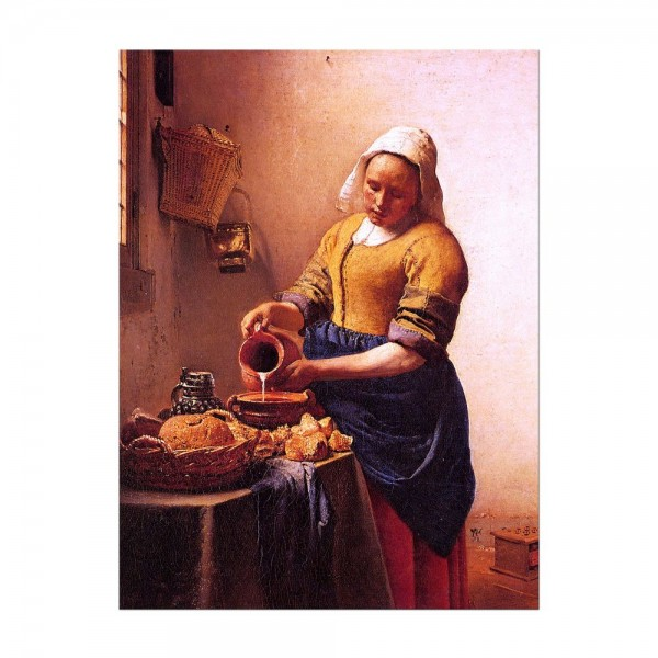 Leinwandbild - Jan Vermeer - Dienstmagd mit Milchkrug