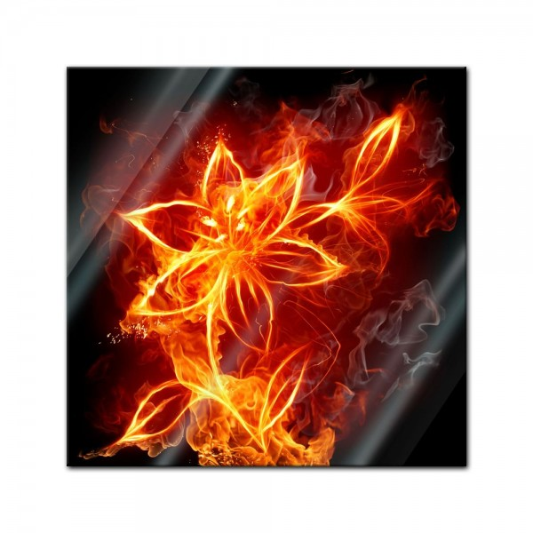 Glasbild - Feuerlilie