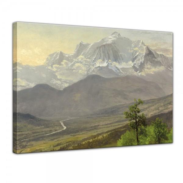 SALE Leinwandbild - Albert Bierstadt Mont Blanc - 70x50 cm