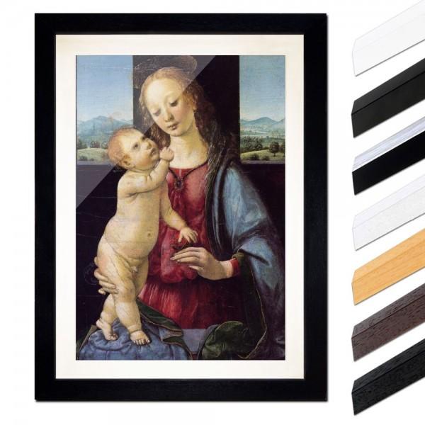 Leonardo da Vinci - Madonna mit der Nelke