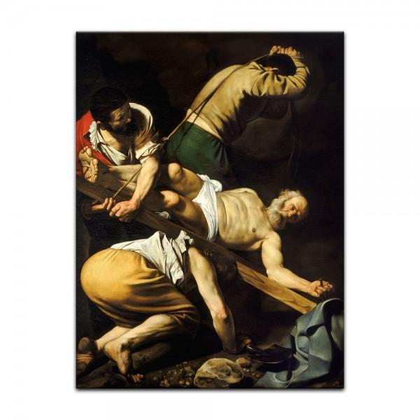 Leinwandbild - Caravaggio - Die Kreuzigung des Apostels Petrus