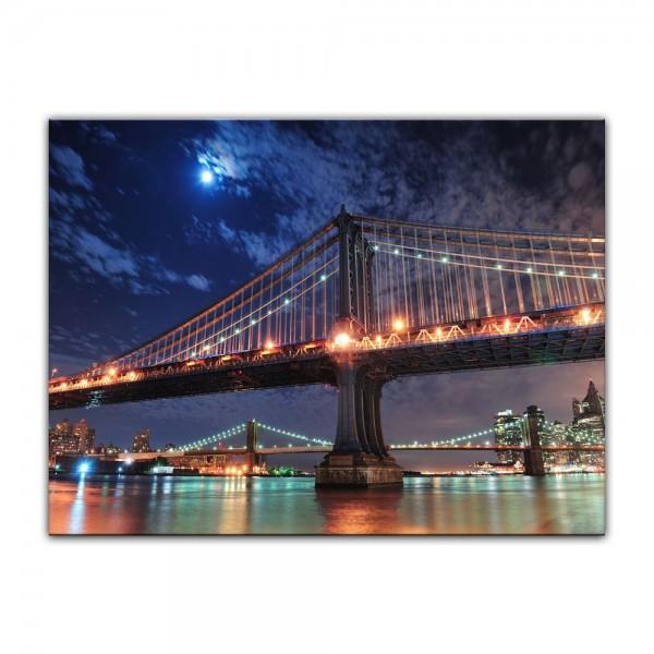 Leinwandbild - New York City Bridge