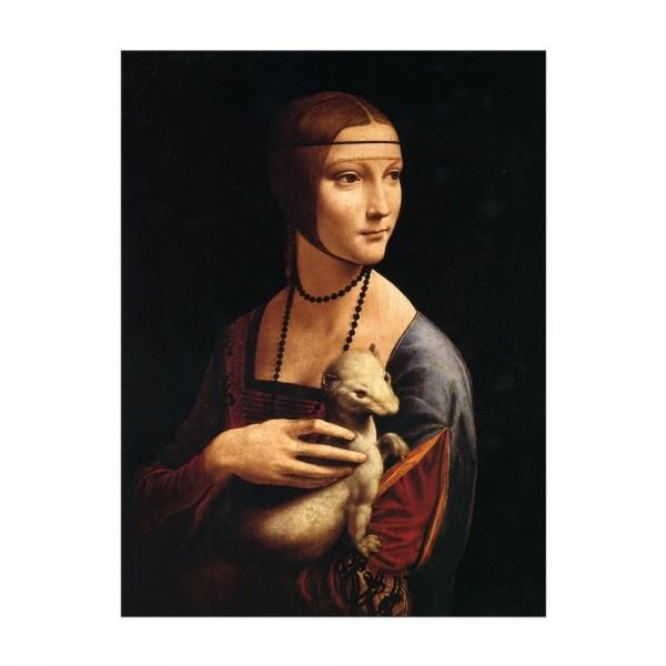 Leinwandbild - Leonardo da Vinci - Die Dame mit dem Hermelin