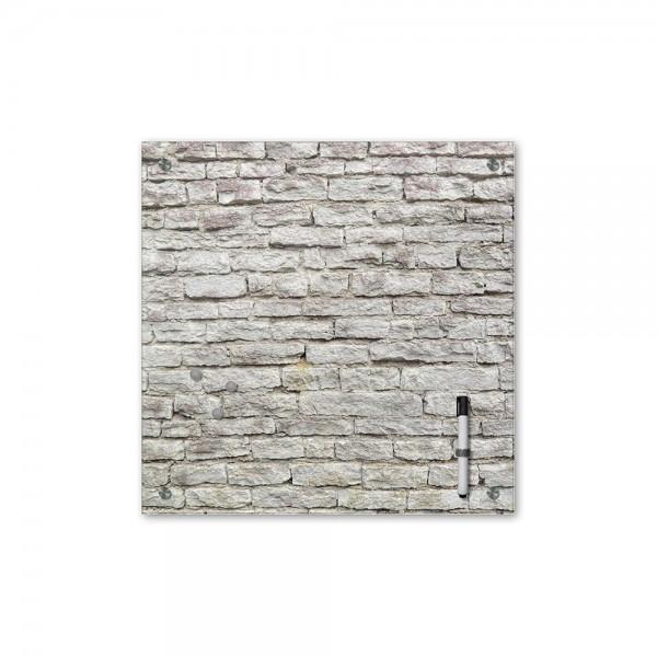 Memoboard - Textur & Hintergrund - Mauerwerk II - 40x40 cm