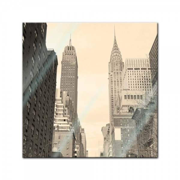 Glasbild - Manhattan Street View