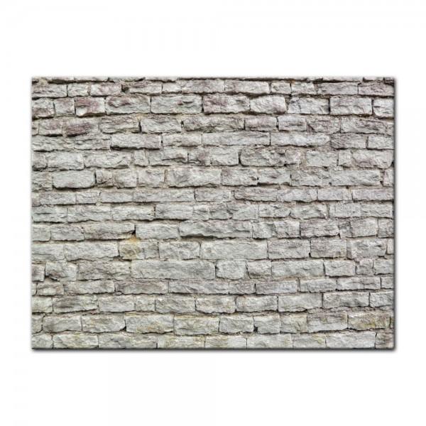 Leinwandbild - Steinmauer II