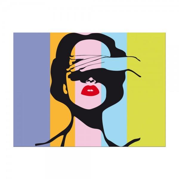 Leinwandbild - Retro Frau Pop Art Stil