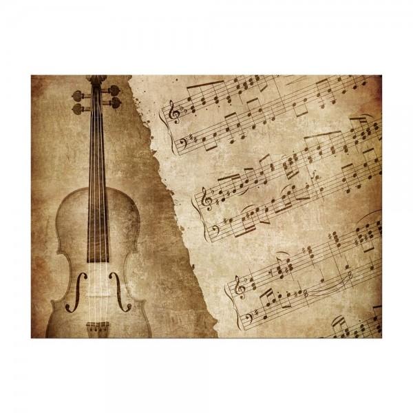 Leinwandbild - Music Old Paper Grunge Vintage I