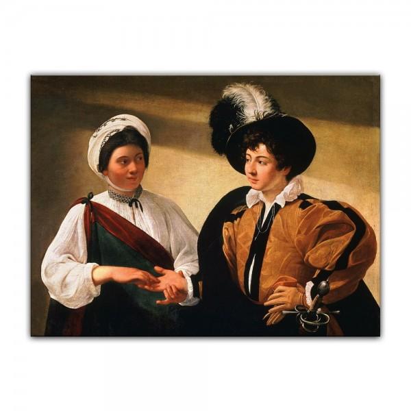 Leinwandbild - Caravaggio - Die Wahrsagerin