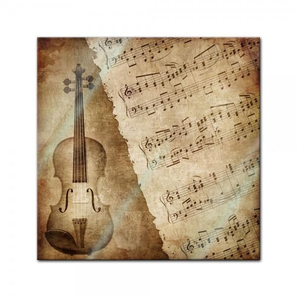 Glasbild - Music Old Paper Grunge Vintage I