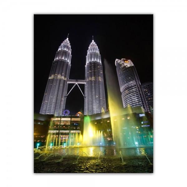 Leinwandbild - Petronas Zwillingstürme