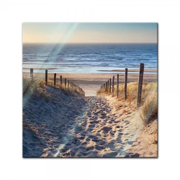 Glasbild - Schöner Weg zum Strand III
