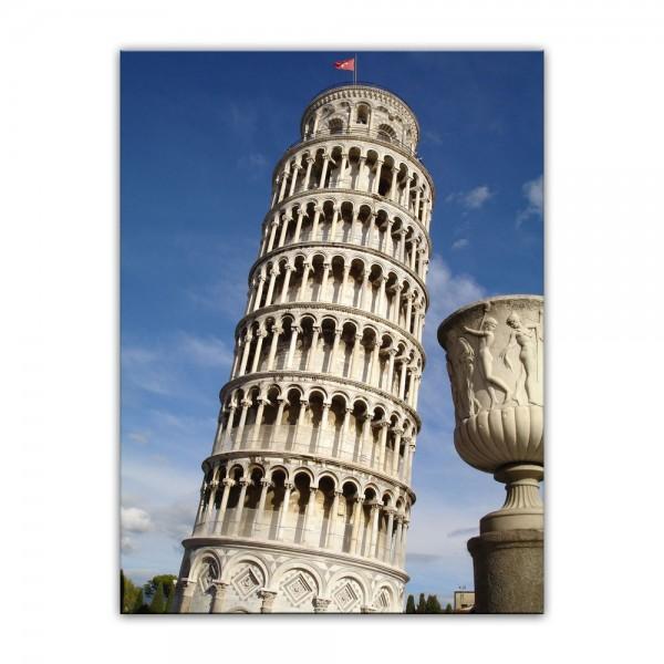 Leinwandbild - Der schiefe Turm von Pisa