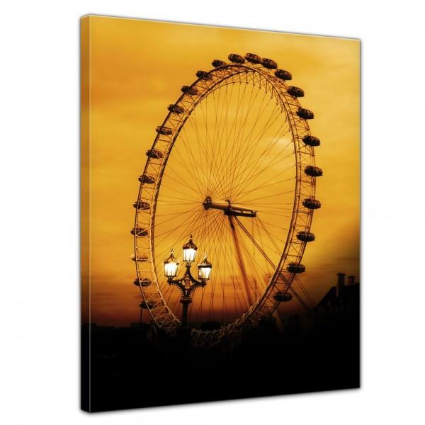 SALE Leinwandbild - London Eye - 50x60 cm