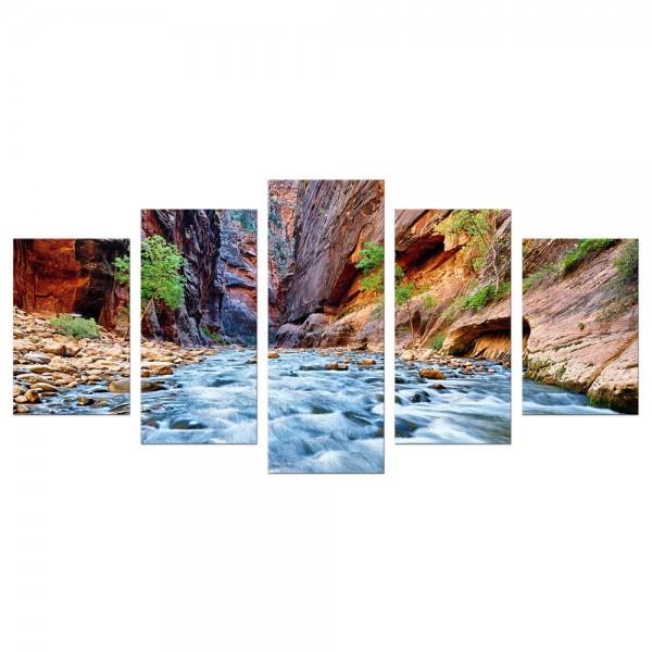 Leinwandbild - Blick auf den Virgin River im Zion National Park - Utah USA