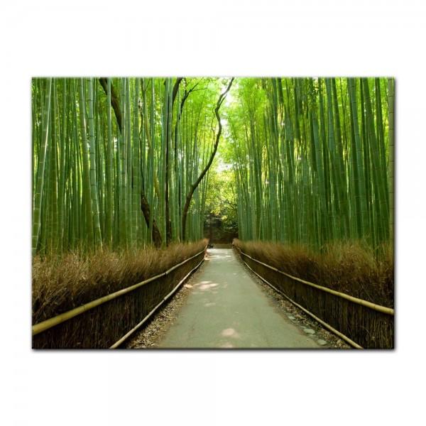 Leinwandbild - Bambuswald in Arashiyama - Japan