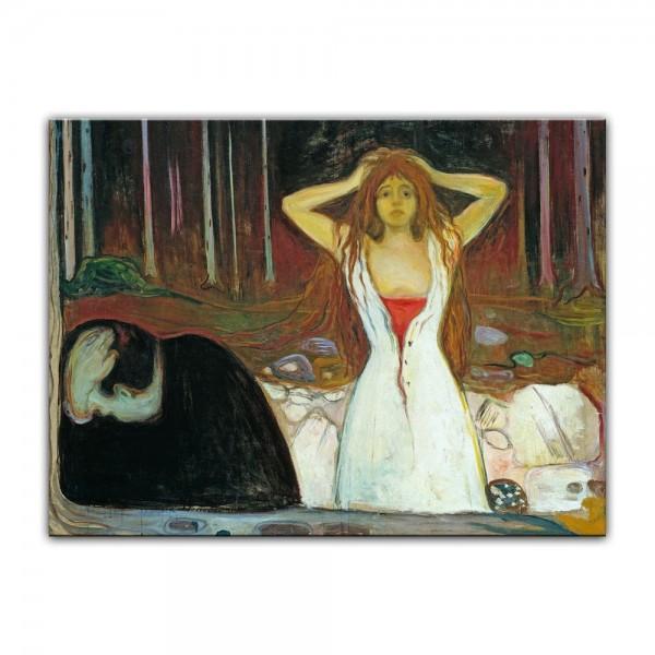 Leinwandbild - Edvard Munch - Ashes - Asche