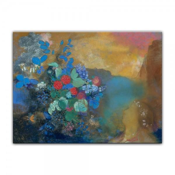 Leinwandbild - Odilon Redon - Ophelia unter den Blumen