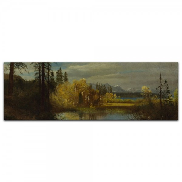 Leinwandbild - Albert Bierstadt - Outlet at Lake Tahoe