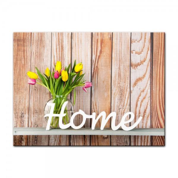 Leinwandbild - Home Tulpen