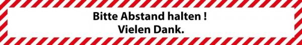 Hinweis Warnhinweis Fußboden-Aufkleber - Bitte kontaktlos oder mit Karte Zahlen