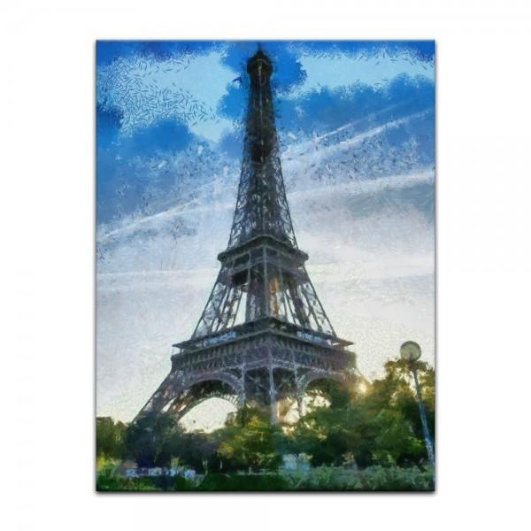Leinwandbild - Reproduktion Aquarell - Eiffelturm