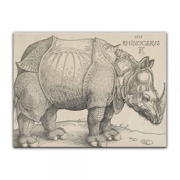 Leinwandbild - Albrecht Dürer - Rhinocerus