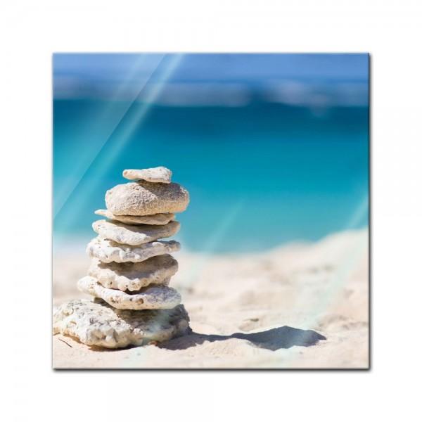 Glasbild - Steine am Strand
