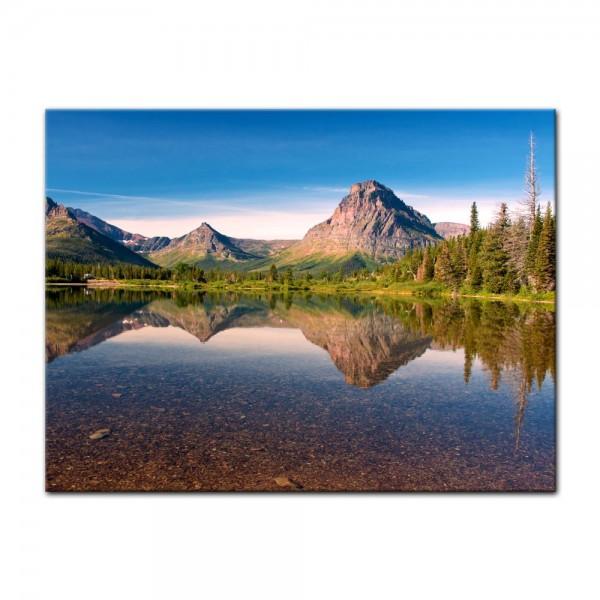 Leinwandbild - Reflektion am See