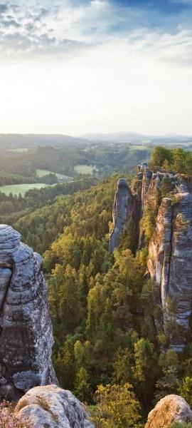 Türtapete selbstklebend Elbsandsteingebirge Sächsische Schweiz 90 x 200 cm Deutschland Tschechien M