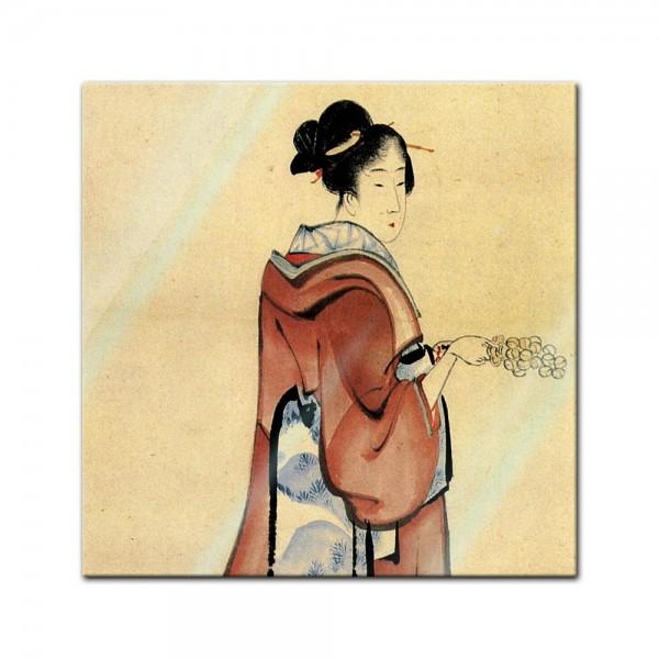 Glasbild Katsushika Hokusai - Alte Meister - Geisha